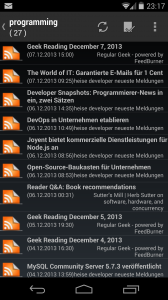 TTRSS-Reader on Android
