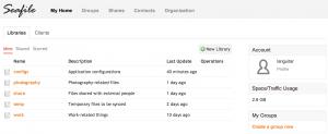 Seafile webinterface screenshot